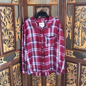 Mossimo Flannel Top Size 3X